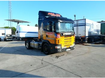 SCANIA R124L 400 left hand drive 3+3 manual - cabeza tractora