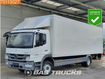 Camión caja cerrada Mercedes-Benz Atego 1218 L 4X2 Perfect-condition! Ladebordwand Euro 5