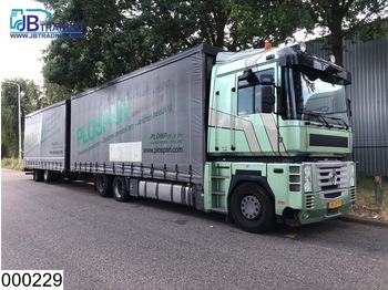 Renault AE Magnum 460 Dxi 6x2, EURO 5, Airco, 10 Wheels, Roof height is adjustable, Combi - camión caja cerrada