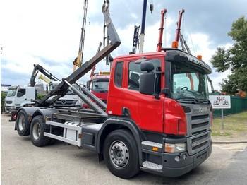 Camión multibasculante Scania P420 6x2 CONTAINER HAAKSYSTEEM AJK / AMPLIROL / ABROLLKIPPER - *453.000km* - LIFT-AS - 10 BANDEN - BELG