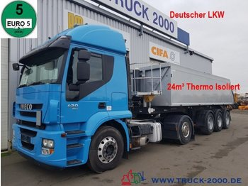 Iveco Stralis Retarder 1.Hand 24m³ Thermomulde IsoXX - volquete camión