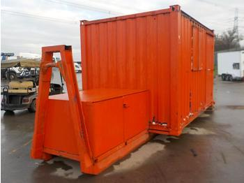 12' x 8' Welfare Unit, Generator Storage, Fixed to RORO Frame to suit Hook Loader Lorry - contenedor de gancho