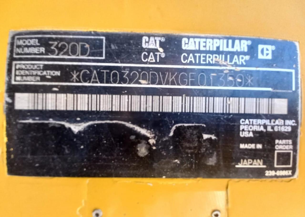 excavadora de cadenas Caterpillar 320 D L