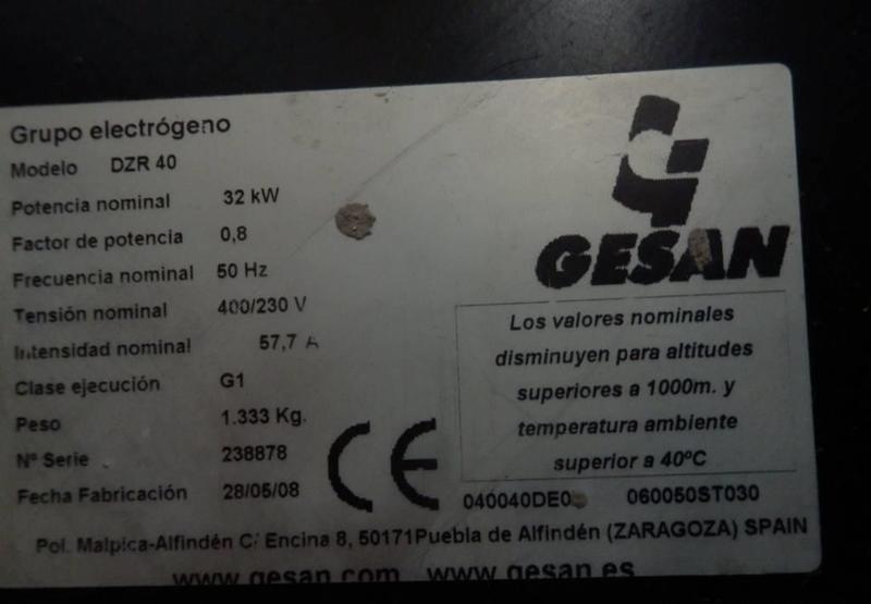 generador industriale Gesan DZR40