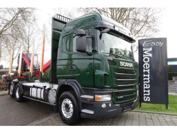 Transporte de madera Scania G440 6x2/4 Highline
