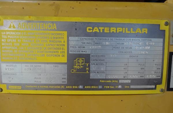 carretilla elevadora Caterpillar V130