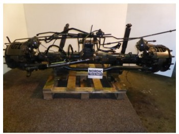 Steerable boggie axle  - eje
